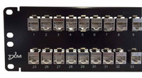 """JPM816A Equivalent CAT6 48-Port Patch Panel 2RU 19"""" Shielded Feed-Through - PPC648S2RUR19"""