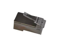 CAT5EPLGS100 CAT5E RJ45 Shielded Plug 50 Micron Plating (100 Pack)