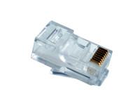 CAT5EPLGM100 CAT5E RJ45 Unshielded Plug 50 Micron Plating (100 Pack)
