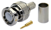 BNC Male Connector for LMR240 / LMR240UF / LOW240 / RG8x cables - Crimp Connector with Solder Pin - BNCML240CS