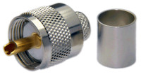 PL259 Male Straight Type Connector For LMR400 / LMR400UF / LOW400 /RG8U /RG213 - Crimp Connector with Solder Pin - PL259ML400CS