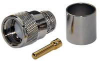 PL259 Male Straight Connector For LMR600 / LOW600 cables - Crimp Connector with Solder Pin - PL259ML600CS
