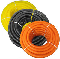 "Solid Corrugated Loom Tubing Polyethylene - 1/2"" - Various Colors"