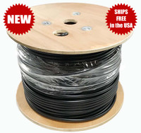 LMR-400DB Type Direct Burial Low Loss RF Coax Cable 1000ft Reel - LOW-400-DB