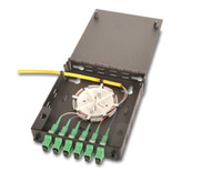 FPW016SMSCA1SP3M Wall Mount Fiber Distribution Panel Loaded with  6 SM SCA Fiber and Pigtail