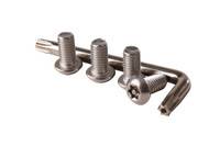 Ground Bar Theft Deterrent Hardware Kit - Includes Bolts and Tamper Resistant Key - HKBBTD