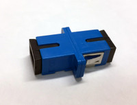 COUPLER SCU TO SCU SINGLEMODE BLUE FEMALE SIMPLEX CER SC FOOTPRINT LARGE FLANGE - FCSCUSCUSMBLFF1CFL