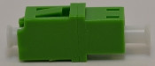 LC/APC Duplex Green Singlemode Coupler small flange - FCLCULCUSMGNFF2CXH