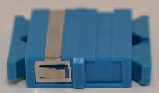 SC Duplex Blue Singlemode Coupler small flange - FCSCUSCUSMBLFF2CXL