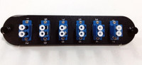 FPC-06P-SM-LCU2B - Adapter Plate 12 Fiber UPC Single Mode Duplex