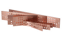 "Standard 4"" Solid Copper Bus Bars with Mounting/Grounding Hardware Kit"