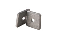 "Galvanized Steel Square Washer, 1-5/8″ with 1/2″ Center Hole for 1-5/8"" Strut - Kit of 100"