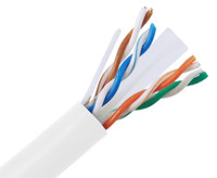 CAT6A Riser Bulk Ethernet Cable, Solid Copper UTP CMR, 23AWG