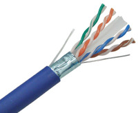 CAT6A Shielded Bulk Ethernet Cable, UV resistant, Indoor/Outdoor, Solid Copper Conductors, 23AWG