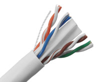 CAT6A Plenum Bulk Ethernet Cable, CMP, Solid 23AWG