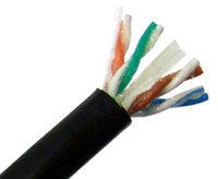 CAT6A Outdoor Bulk Ethernet Cable, Direct Burial Solid Copper UTP UV, Gel Filled, 23 AWG