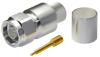 NML600CS Type N Male Connector for LMR600 / LOW600 -  Crimp Connector with Solder Pin