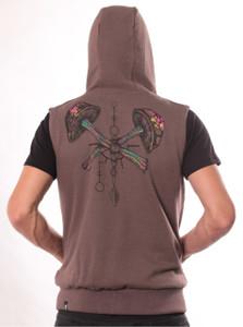 Champignon Brown Melange Vest
