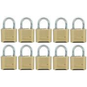 "10 pcs Brass combination padlock 2""(50mm) 2"" , 4 digits School padlock (blister pack)"