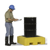 Ultratech Ultra-Spill Pallet P1 Plus, With Drain, 62 Gal Capacity, 40 x 40 x 12, Mfg# 9607