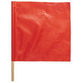 "Warning Flags - Vinyl 18"" x 18"" red/orange vinyl Flag # 1600-18S-24"