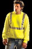 OccuNomix Lightweight Crewneck Sweatshirt, Hi-Visibility Yellow, Mfg# LUX-SWTL