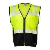 ML Kishigo FM410 Flame Resistant Black Series Hi-Visibility Mesh Safety Vest, Class 2