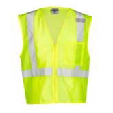 ML Kishigo ANSI 107 Class 2 Mesh Safety Vest, Single Pocket, Zipper Front, Style # 1089 & 1090