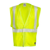 ML Kishigo FM389 Flame Resistant Hi-Viz Mesh Safety Vest, ANSI 107 Class 2 Compliant, ARC 1, NFPA 70E, ATPV 4.6 cal/cm2, Made in the USA