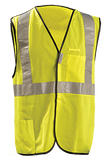 Occunomix High Visibility Yellow Premium Mesh Safety Vest, 5-point Break-Away, Mfg# LUX-SSBRPC