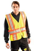 Occunomix High Visibility Yellow Premium Mesh Two-Tone Expandable Vests, Mfg# LUX-SC2TZ
