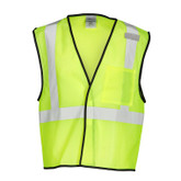 ML Kishigo Single Pocket ANSI 107 Class 2 Mesh Safety Vest, Hook & Loop Closure, Style 1193 & 1194