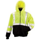 ML Kishigo Class 3 Hi-Visibility Zip Front Hooded Sweatshirt | Mfg# JS102