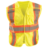 Occunomix LUIX-SC2TB High Visibility Yellow Classic Mesh Two-Tone Expandable Safety Vest, Class 2