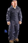 OccuNomix G906 Value 6 oz. Navy Cotton Flame Resistant Coverall, HRC 1, NFPA 70E, ATPV 7.2 cal/cm2