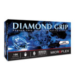 "Microflex® Diamond Grip® MF-300 Powder Free Latex Gloves, 9.6"" Length, 6.3 mils Thick, 100 Each/Box, Durable Latex Exam Glove with Enhanced, Textured Fingertips"