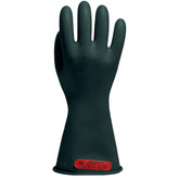 "Salisbury® Class 0 Black Electricians Gloves, Low Voltage, 14"" Length, Mfg# E014B"