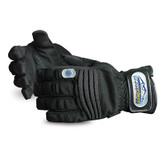 Superior Glove Snowforce Extreme Cold Winter Gloves, Black Clatino PVC Palm & Velcro Strap, 1 Pair, Mfg# SNOW388V