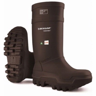 41b37930004 Dunlop® Purofort® Black Thermo+ Boot, Full Safety Omega/EH, Mfg# E652-033