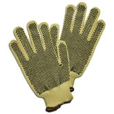 Worldwide Protective ATA/Kevlar Heavy Weight Knit Glove with double sided PVC dot coating, ANSI Cut Level 4, 1 Pair, Mfg# MATA30-PD2
