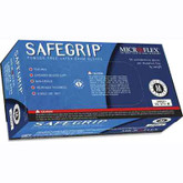 Microflex SG-375 SafeGrip High Risk Blue Latex Glove, Powder Free, Packaged 50 each per dispenser box
