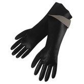 "Durawear 18"" Length Black PVC Coated Glove, Smooth Finish, Large, 1 Pair, Mfg# 2238"