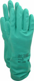 Ansell® Solvex® 37-175 Green Nitrile Chemical Gloves, 15 mil thickness, Flock Lined, 12 pairs/pkg
