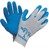Showa Best Atlas Fit® 300 Glove, blue rubber coated, grey cotton knit | Mfg #300