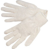 Durawear String Knit Glove, Light Weight, Cotton/Poly, Natural Color, 12 pair/pkg