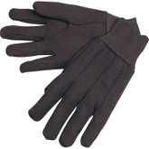 Durawear Brown Jersey Work Gloves, Knit Wrist, 9 oz, Sold 12 pr/pkg | Mfg 15-5003