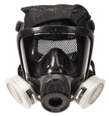 MSA Advantage 4200 Full Face Respirator, Silicone, Twin Port, Polyester Net Head Harness