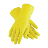 Assurance® Unsupported Yellow Latex Glove, Flock Lined with Raised Diamond Grip, 21 Mil, 12 pair/pkg | Mfg# 48-L212Y