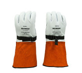 """Salisbury NGILP3S 12"""" Leather Protector Gloves with Adjustable Strap, Premium Cowhide & Goatskin"""