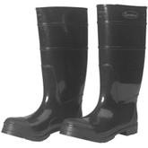 "Durawear Black PVC 16"" Plain Toe Boots, Over-the-sock Style | Mfg# 1550"